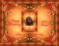Happy Birthday dear Hanne (hanne9 / Elfie)