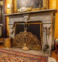 Fireplace in an expensive old home