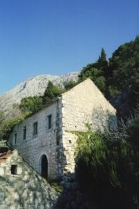 Abandoned house in Shkenderi village near Makarska, Dalmatia
