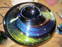 Glass blown vase