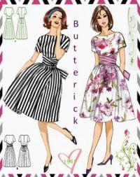 Vintage Fashion Butterick 1961 Wrap Around Dress