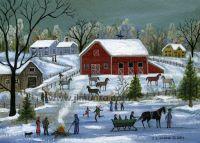 Munro-Horse Farm in Winter