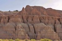 The Colorful Eroded Walls Of Cathedral Gorge State Park In Panaca, Nevada