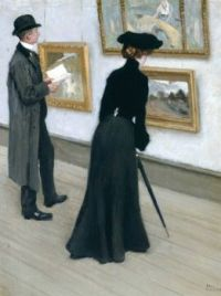 "Paul Gustav Fischer, ""At the Gallery"""