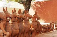 Clay horses