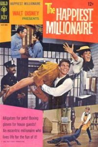 Gold Key Comic - 1967- Walt Disney's THE HAPPIEST MILLIONAIRE -  FRED MacMURRAY, TOMMY STEELE, GREER GARSON