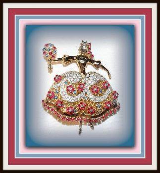 Vintage Ballerina Brooch