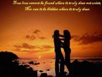 True love cannot.....
