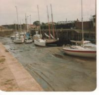 BOATS  WAITING FOR TIDE TOWN OF RYE     1984