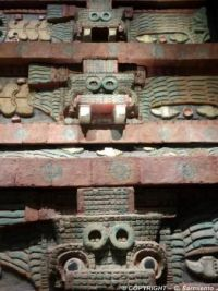 MEXICO – Teotihuacan – Pyramid of the Feathered Serpent - Details