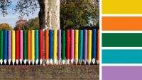 Fence of Colouring Pencils