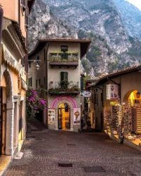 Evening stroll around Limone sul Garda, Lombardy, Italy