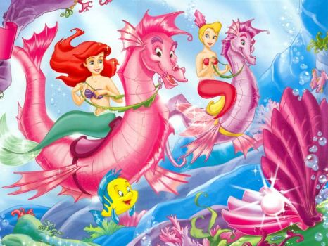 Ariel and friend riding