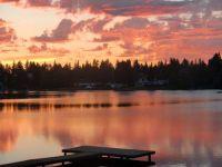 2012 Sunset over Lake Burien, Burien, WA