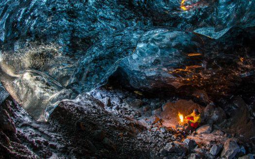 Cave under a glacier