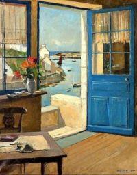 The Blue Door, Raymond Wintz (1884-1956)