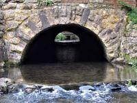 River culvert under the railway