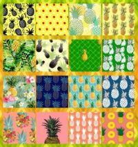 Pineapple / L'ananas  Collage Challenge