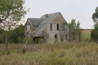 Abandoned Farm Home On The Outskirts Of Marysville, Kansas
