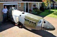 Spitfire in the garage