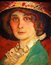 Fauvistic Portrait of a Lady Wearing a Hat -  Jan Sluijters, 1881 - 1941