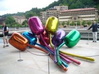Sculpture in Bilbao Spain