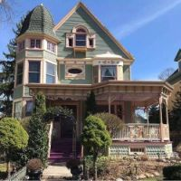 Victorian home with a bell shaped dome