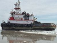 """Miss Katie"" aground on Brigantine beach!!"