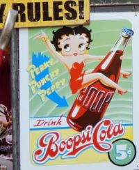Betty Boop tin poster