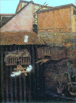 Corner in the Courtyard, 1900 by Oswald Achenbach