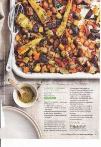 Food recipes 127 - Sausage & veg traybake with pesto sauce (+ recipe)