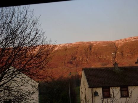 THE CAMPSIE HILLS FROM MY WINDOW