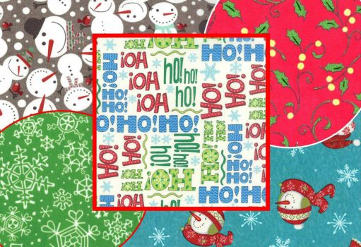 Christmas fabric patchwork - large