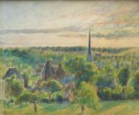 Landscape at Eragny, Camille Pissarro, 1890