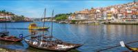 Rabelo boats on Douro River in Portugal