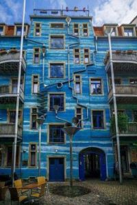 A building that plays music when it rains Dresden