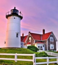 Nobska Point Lighthouse Woods Hole Cape Cod....