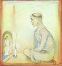 St Francis  (Digital drawing (ArtRage app))
