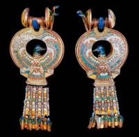 Duck earrings in King Tut's tomb