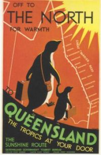 Vintage Travel Poster: Queensland Australia small
