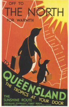 Vintage Travel Poster: Queensland Australia small