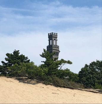 A peek at the top of the Provincetown Monument