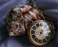 SEA SHELL AND ANTIQUE WATCH CHAIN