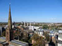 Panoramic View from the old Coventry Cathedral Tower  (10)