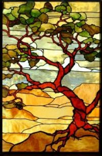 STAINED GLASS MOSAIC LANDSCAPE