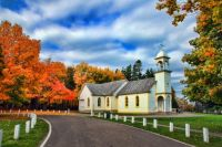 Church In Autumn - New Brunswick, Canada