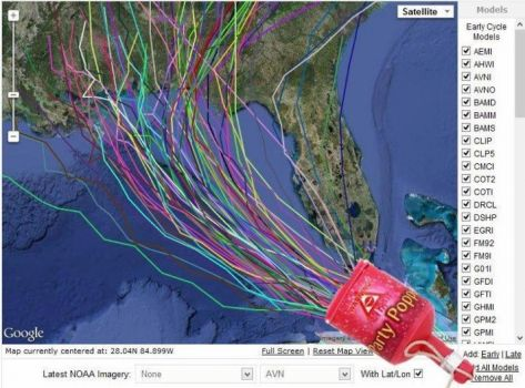 How hurricane tracks are really made!