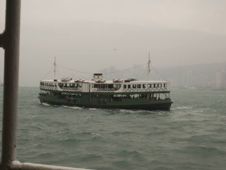 Star Ferry ploughing its way between Kowloon and Hong Kong