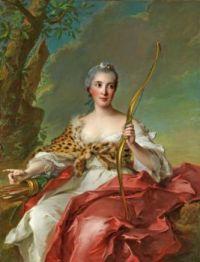 Jean-Marc Nattier Madame de Maison-Rouge as Diana 1756