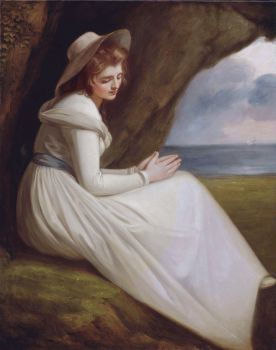 George Romney - Emma Hart as Ariadne